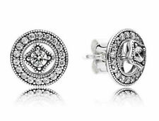 Genuine Pandora Vintage Allure Sterling Silver Earrings 290721CZ S925 ALE UK
