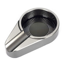 New Aluminium Alloy Metal Cigar Ashtray for 1 Cigar Silver Grey JF066