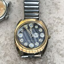 Vintage 1974 Telephone Dial Timex Day Date Watch