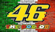 Wandbild Italien Flagge Mauer 46 Valentino Rossi The Doctor Aufkleber Tapete
