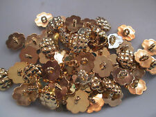 LOT OF 50 GOLD COLOR 11/16 INCH SHANK BUTTONS, NEW