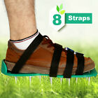 Lawn Aerator Shoes Heavy Duty Spiked Sandals 4 Strap Alloy Buckles Aerating Tool