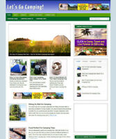GO CAMPING WEBSITE & AFFILIATE STORE WITH NEW DOMAIN + HOSTING