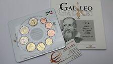 2014 coffret BU 9 pièces 5,88 EURO ITALIE fdc ITALIA GALILEI KMS ITALIEN ITALY