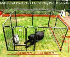 8 PANEL  X LARGE HEAVY DUTY PET PLAYPEN CAGE FOR DOG METAL RUN FENCE ENCLOSURE