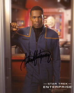 ANTHONY MONTGOMERY SIGNED 8x10 PHOTO MAYWEATHER STAR TREK ENTERPRISE BECKETT BAS