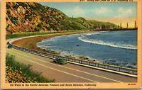 Vintage 1930's Oil Wells on US Highway 101, Ventura California CA Postcard