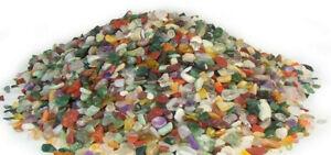 1kg Tumble Polished Gemstone Chips Small 5-15mm Genuine Crystal Mix Gravel Decor