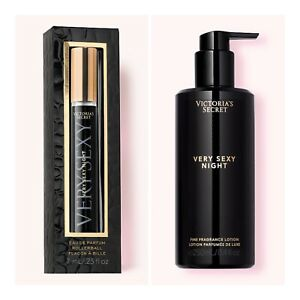 Victoria's Secret VERY SEXY NIGHT Eau de Parfum Rollerball and Fragrance Lotion