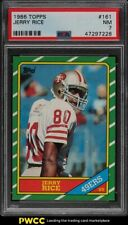 1986 Topps Football Jerry Rice ROOKIE RC #161 PSA 7 NRMT