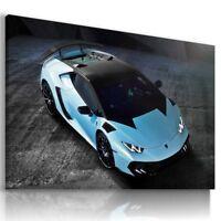 LAMBORGHINI HURACAN BLUE Sports Car Wall Art Canvas Picture  AU730  MATAGA