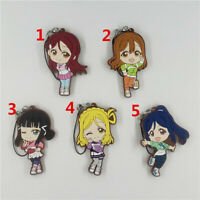 Anime LoveLive!Sunshine!! rubber Keychain Key Ring Race Straps Cosplay