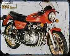 BENELLI 504 Sport 80 01 A4 Metal Sign moto antigua añejada De