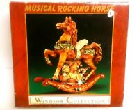 Vintage Windsor Collection Musical Rocking Horse #24653, tune Jingle  NIB