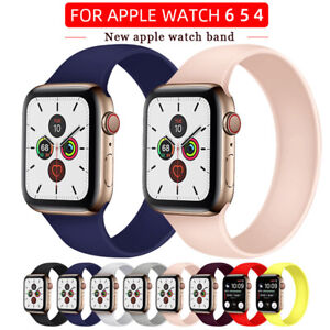 Solo Loop Elastic Belt Silicone Watch Band for Apple Watch iWatch 6 SE 5 4 3 2 1