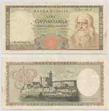 "REPUBBLICA ITALIANA - 50000 Lire ""Leonardo"" 1970 (4)"