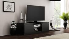 TV Schrank, Lowboard, TV Möbel Fernseher Schrank Fernsehtisch Schwarz Matt 120cm
