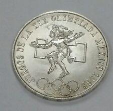 1968 Mexican 25 Pesos Olympics silver 720/1000.