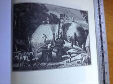 1950s Wood Engraving print The Threshing Machine by Gwen Raverat