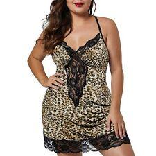 Women Lace Lingerie Deep V-Neck Sleepwear Underwear Dress G-string Nightdress US