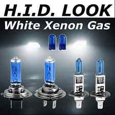 H7 H1 501 55w White Xenon HID Look Headlight Dip Main Beam Bulbs Road Legal