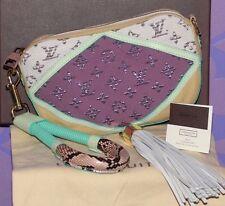 Louis Vuitton Nightbird Pochette Python Clutch Glitter Monogram *Limited Runway*