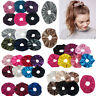 5pcs/set Womens Elastic Hair Rope Ring Tie Velvet Scrunchie Ponytail Holder Band