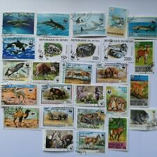 25 Different WWF World Wildlife Fund Animal Stamps Collection