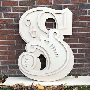 Giant Wooden Letters 60cms Circus Lettering - Kids Bedroom Decorative Lettering