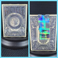 Bicycle Federal 52 Silver Certificate Playing Cards - Numbered Deck Limited