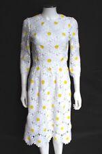 DOLCE & GABBANA Daisy White macramé lace midi dress 40 uk 8