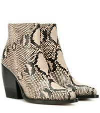Chloe Rylee Snakeskin Ankle Boots Size 39
