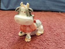 'COW' FIGURINE or Salt/Pepper Shaker with RED 'BIB'~~FREE SHIPPING in USA!!