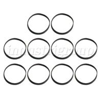 10 x Black Rubber Turntable Belt 3mm for Record Player Phonograph VCR Turntable