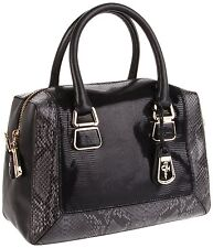Rare Cole Haan Hayden Charlotte Black Patent Leather Lizard Satchel DUST BAG