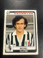 MICHEL PLATINI JUVENTUS STIKER CALCIATORI PANINI 1986 # 169 NEW VERY GOOD