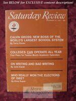 Saturday Review December 15 1962 ELMO ROPER JOHN CIARDI John Coltrane