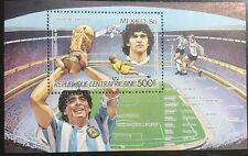 Central African Republic #MiBl386A MH S/S CVEUR5.50 Maradona