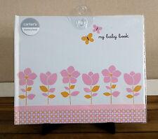"Carter's ""My Baby Book""  Pink Floral Butterflies Memory Keepsake Book Hardcover"