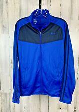 Nike Men's Full Zip Track Jacket Blue Excellent Size S