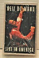 "NEIL DIAMOND""Live In America"" 2 Cassette Tape Set Columbia C2T66321 NEW / SEALED"