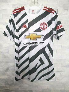 Adidas 2020-21 Manchester United 3RD Jersey (FM4263) Blanc-Noir-Rouge
