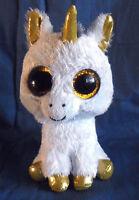 *1807a*  TY Beanie Boos Pegasus the Unicorn - sparkling orange eyes - plush