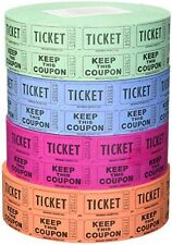 Indiana Ticket Company 56759 Raffle Tickets, 4 Rolls of 2000 Double Tickets 8