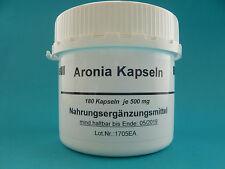 Aronia 180 vegi  Kapseln x  500mg, Apfelbeere  ( 21 € /100 g) Aroniakapseln