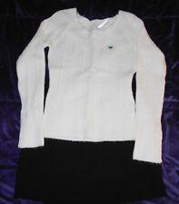 Banana Republic Black Mini Pencil Skirt & Aeropostle Long Sleeve Sweater Shirt