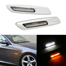 For BMW X1,1 3 5 Series F10 Style Clear Lens Dual-Color LED Side Marker Lights