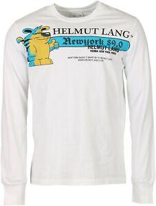 Men's Helmut Lang Longsleeve Offwhite weiss Printed Comic Gr. S NEU * 75012-001