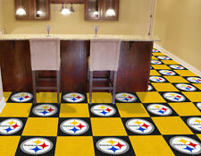 """Fanmats NFL-Pittsburgh Steelers Carpet Tiles 18"""" x 18in tiles- 8545 NEW"""