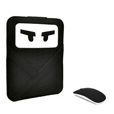 "UNIK CASE-2 in 1-Ninja Black Laptop Sleeve Bag with USB Mouse for All 13"" Laptop"